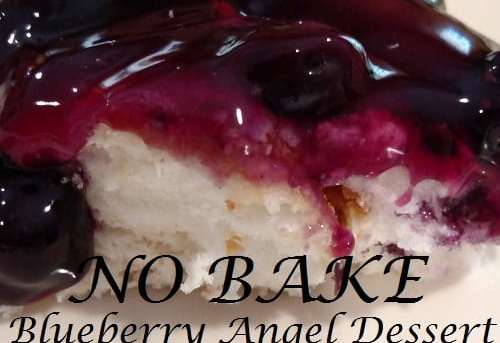 No Bake Blueberry Angel Dessert