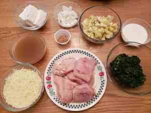 Crock Pot Spinach Artichoke Chicken ingredients