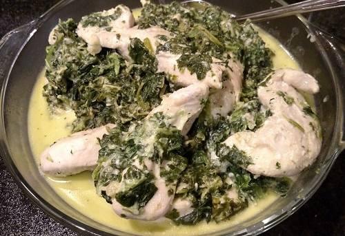 Skillet Chicken Florentine