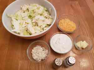 Cheesy Low Carb Cabbage ingredients