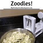 zoodles in a bowl after coming out of zoodle maker