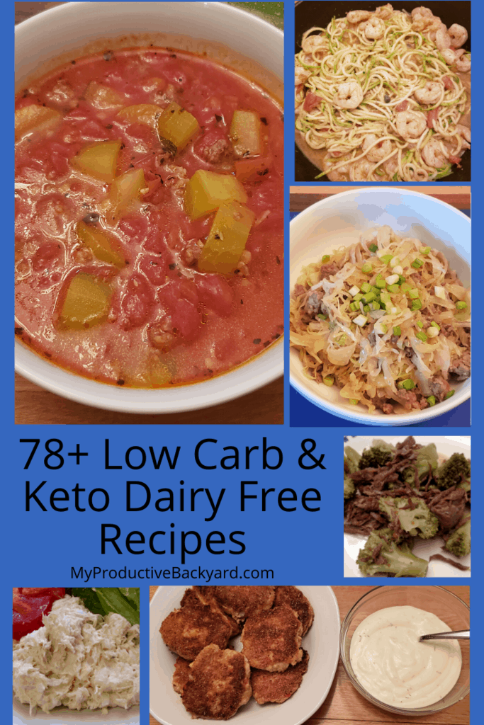 78 Dairy Free Low Carb Keto Recipes collage