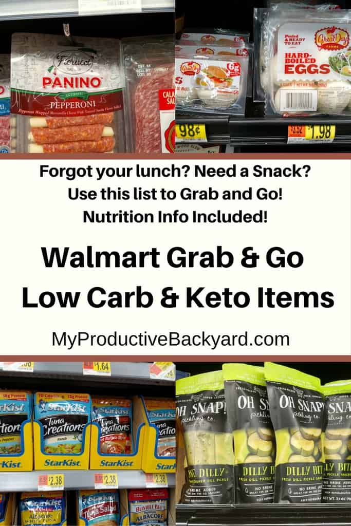Walmart Grab and Go Low Carb Keto Items - My Productive Backyard