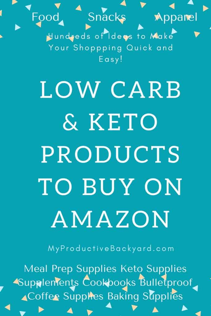 Low Carb Keto Products to Buy from Amazon