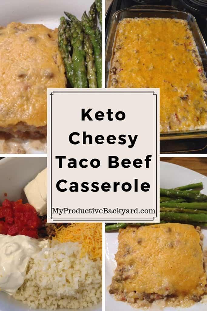 Keto Cheesy Taco Beef Casserole