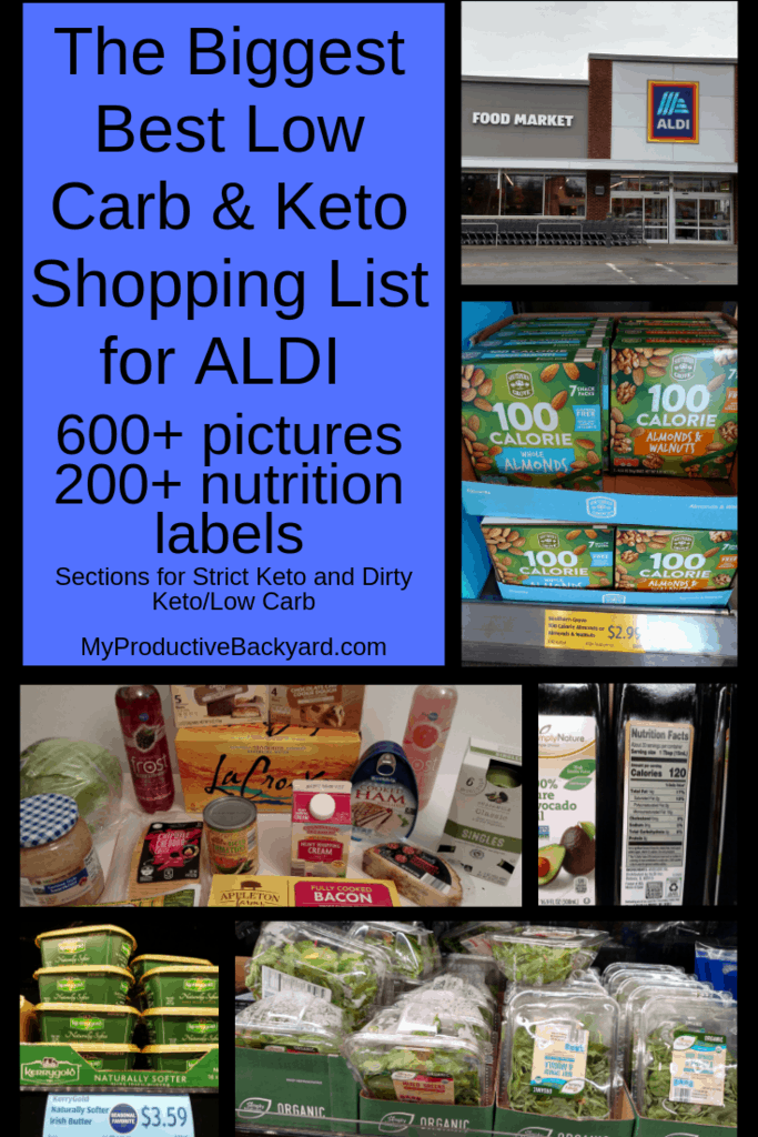 photo relating to Printable Keto Shopping List identified as The Largest Suitable Small Carb Keto Buying Listing for ALDI - My