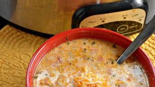 Crock Pot Low-Carb Taco Soup - Keto Taco Soup