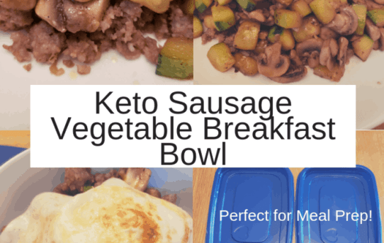 Keto Sausage Vegetable Breakfast Bowl