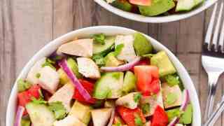 Chicken Avocado Salad (Keto, Low Carb)