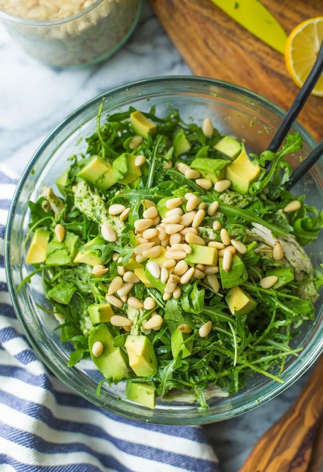 Chicken & Avocado Pesto Salad
