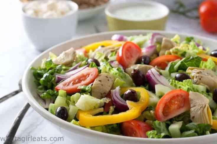 Quick Greek Gyros Salad