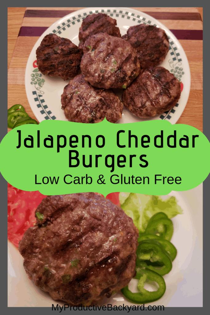 Low Carb Jalapeno Cheddar Burgers