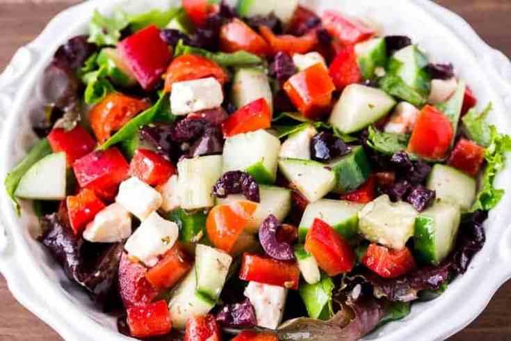 Keto Greek Salad with Greek Salad Dressing
