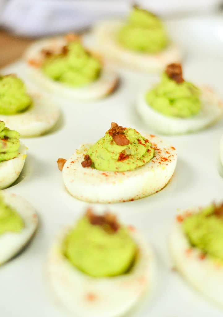 Avocado and Bacon Deviled Eggs + Tips For Perfect Hard Boiled Eggs
