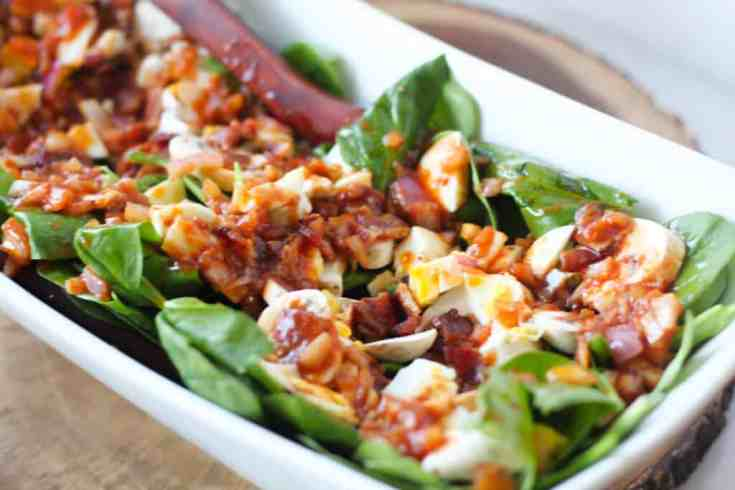 Spinach Salad With Bacon (and Hot Bacon Dressing)