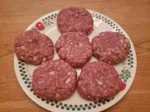 Best Low Carb Burgers raw on a plate
