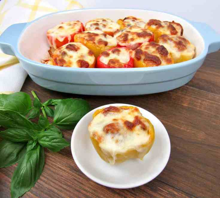 Pizza Stuffed Peppers - Keto and Low Carb