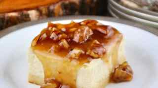 Sugar Free Cheesecake with Maple Pecan Topping