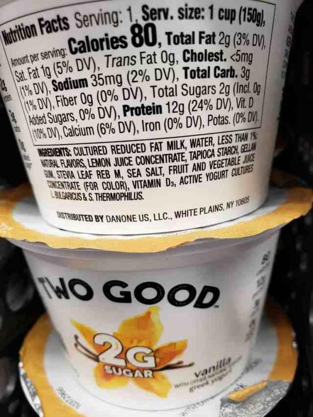 Two Good Yogurt label
