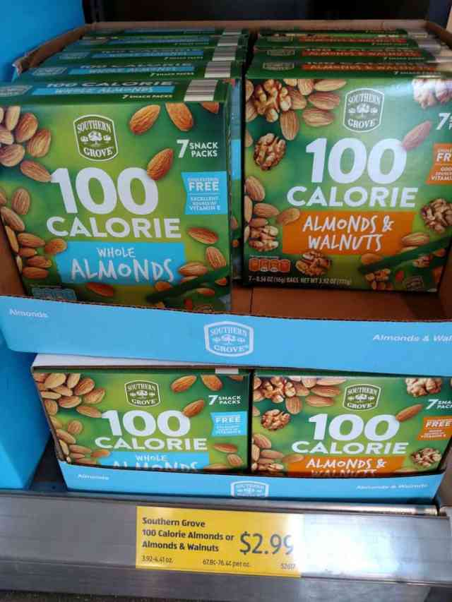 100 Calorie Nut Packs in store