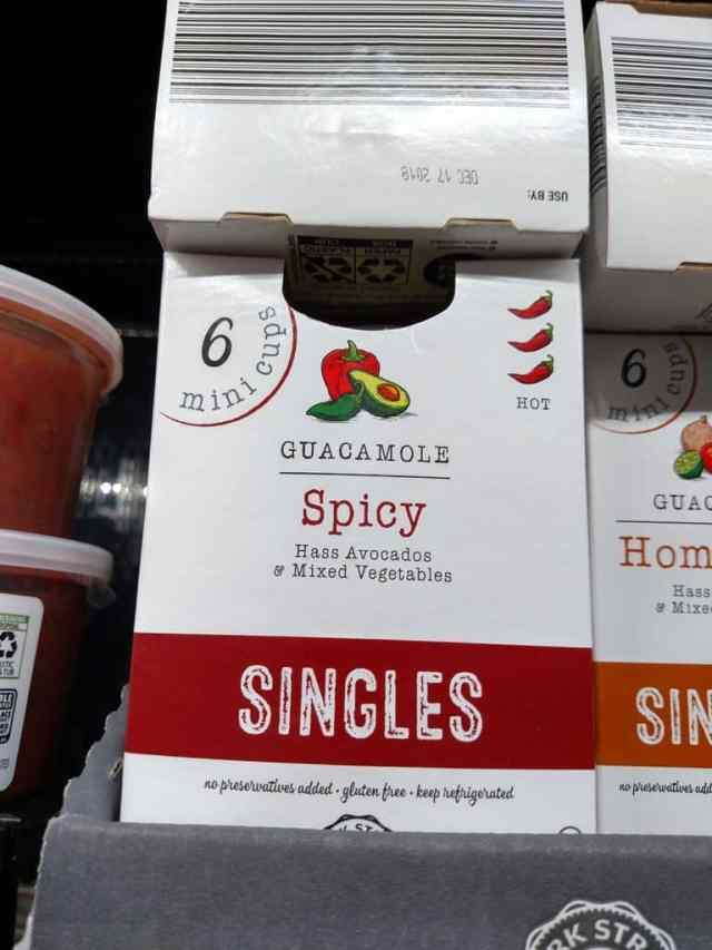 Guacamole Singles spicy in store