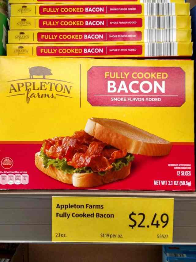 Fully Cooked Bacon in store