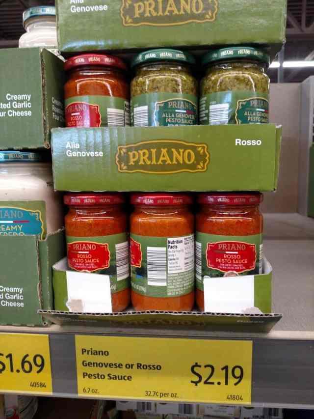 Priano Genovese and Rosso Pesto Sauce in store