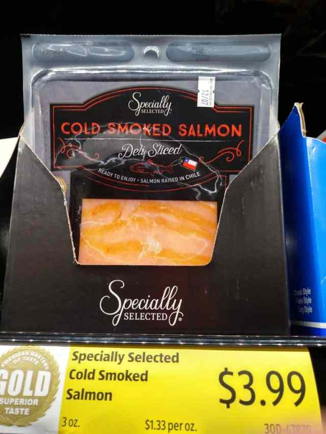 Cold Smoked Salmon in store