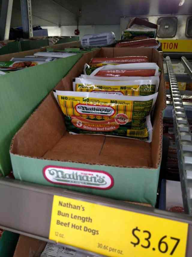Nathan's Hot Dogs in store