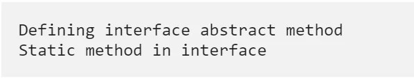 Java Interfaces Example Program: