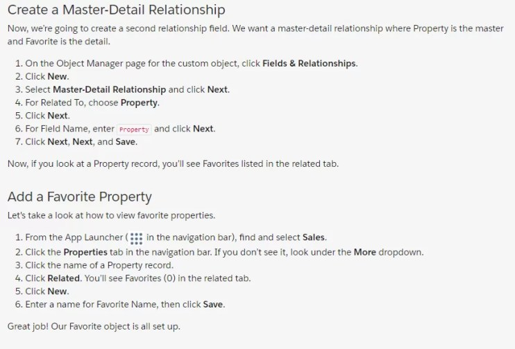 Create a Master-Detail Relationship | Add a Favorite Property