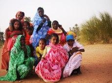 Girls dressed up for the Prophets babtism.