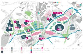 Map Of London 2012 Olympic Park showing Olympic venues