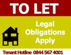 To Let - Legal Obligations Apply