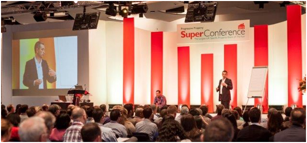Mark I'Anson on stage at the 2013 Property Super Conference at Wembley Stadium