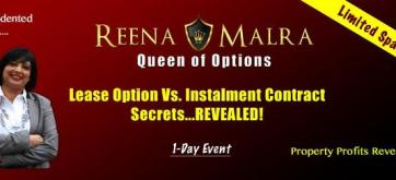 Secure Your Place With Reena Malra on 23rd November 2013 or 25th January 2014