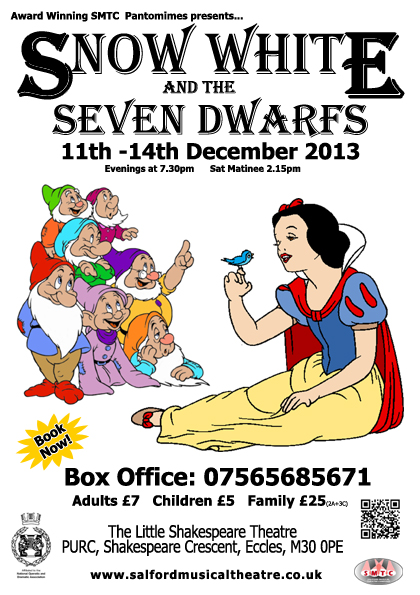 SMTC presents Snow White and the Seven Dwarfs 11th-14th Dec 2013
