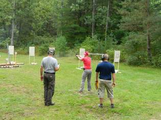 9/5/2015 AP Outdoor, Ms K busting a Cap at the Hostage Target