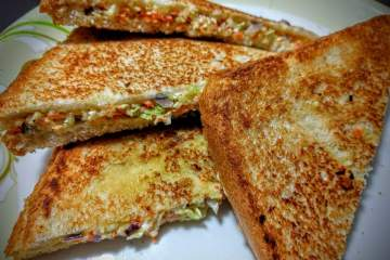 Vegetarian Grilled Cheese Sandwich Recipe