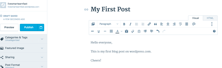 Write your first blog post