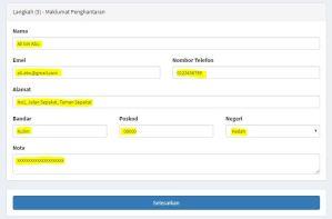 Cara beli barang melalui Sistem OrderSini Langkah 3