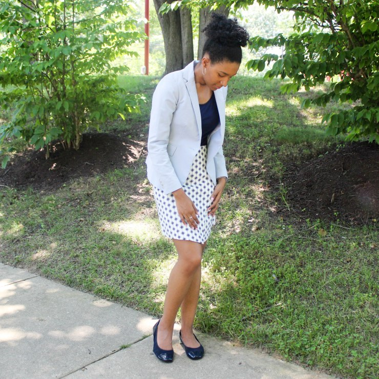 Ann Taylor Loft Skirt and Navy Top-3