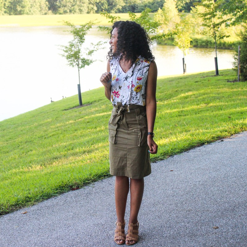 Old Navy Top with Utility Skirt-2081