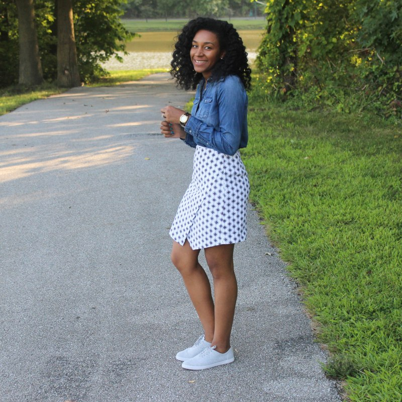 Denim Shirt Loft Skirt (2 of 6)