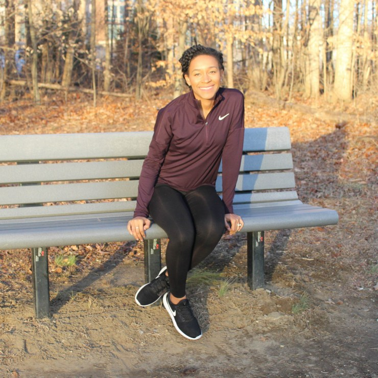 Maroon Nike Workout Outfit-9084