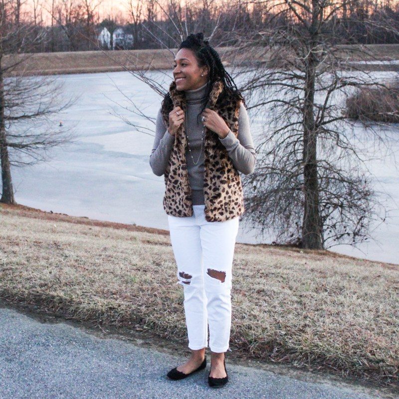 The cutest leopard vest-9911