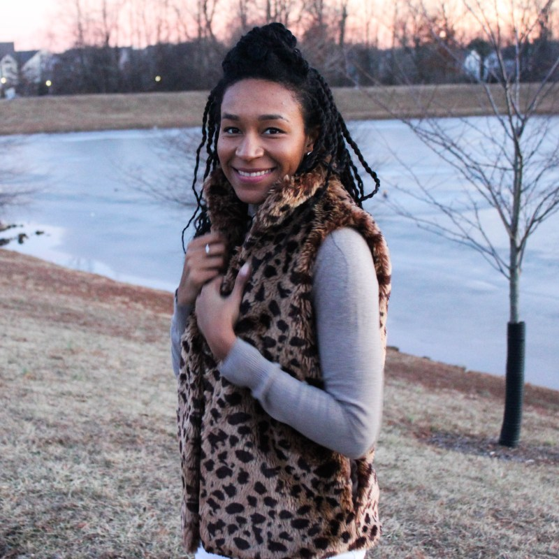 The cutest leopard vest-9999