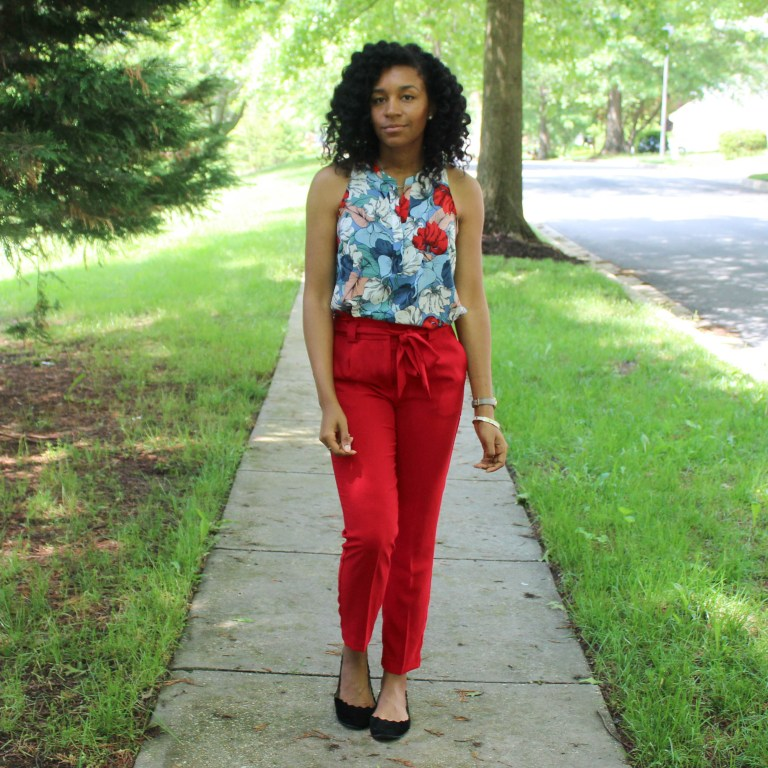 Red & Blue Shirt with Red Express Pants-9441