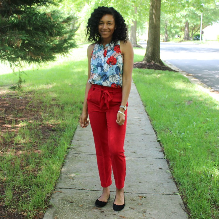 Red & Blue Shirt with Red Express Pants-9446
