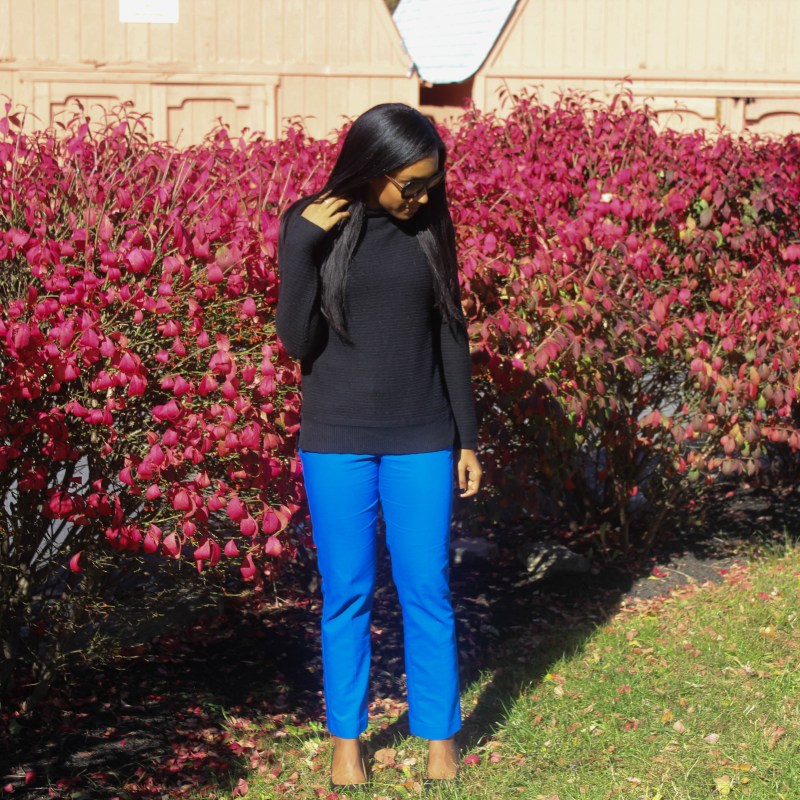 Black Old Navy Sweater Blue Express Pants-4